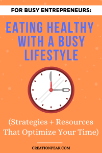 Eating Healthy with A Busy Lifestyle Pinterest image