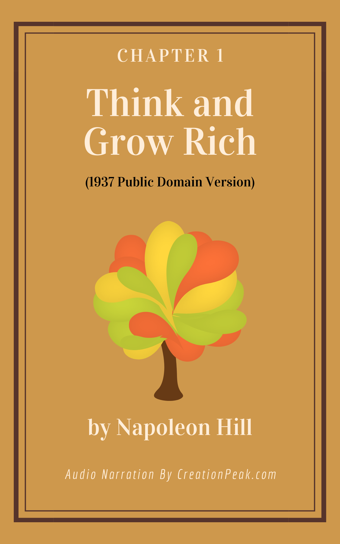 Think and Grow Rich Chapter 1 Audio book cover