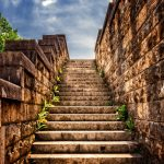 converting defeat into opportunity, stairs leading up