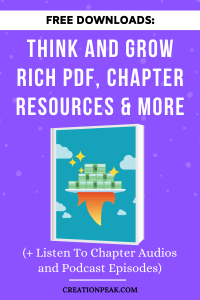 Think and Grow Rich PDF, Chapter Resources & More Pinterest image