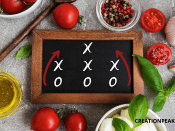 eating healthy playbook board and foods
