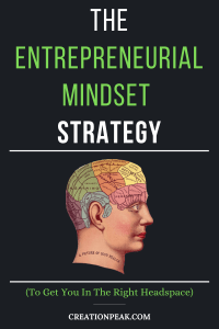 The Entrepreneurial Mindset Strategy Pinterest image