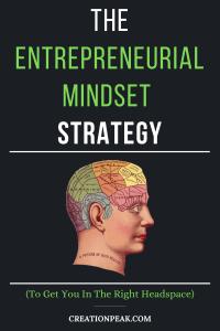 The Entrepreneurial Mindset Strategy Pinterest image